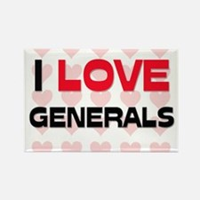 I LOVE GENERALS Rectangle Magnet