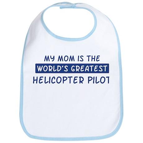 Helicopter Pilot Mom Bib