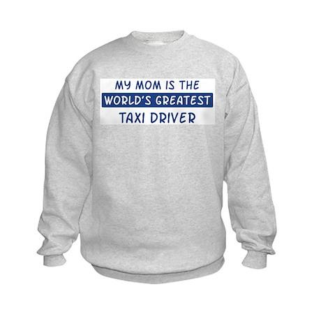 Taxi Driver Mom Kids Sweatshirt