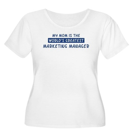 Marketing Manager Mom Women's Plus Size Scoop Neck