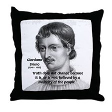 Freedom of Thought Bruno Throw Pillow