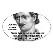 Freedom of Thought Bruno Oval Decal