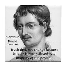 Freedom of Thought Bruno Tile Coaster