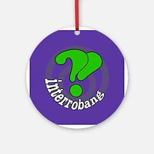 Interrobang Pop Art Purple Ornament (Round)