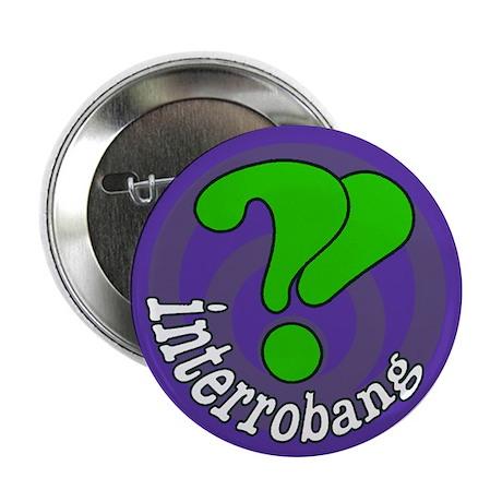 """Interrobang Pop Art Purple 2.25"""" Button (100 pack)"""