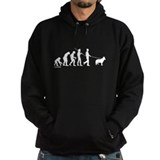 German shepherd evolution Dark Hoodies