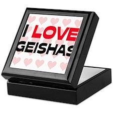 I LOVE GEISHAS Keepsake Box