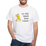 No child cancer White T-Shirt