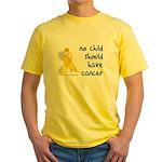 No child cancer Yellow T-Shirt