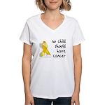 No child cancer Women's V-Neck T-Shirt