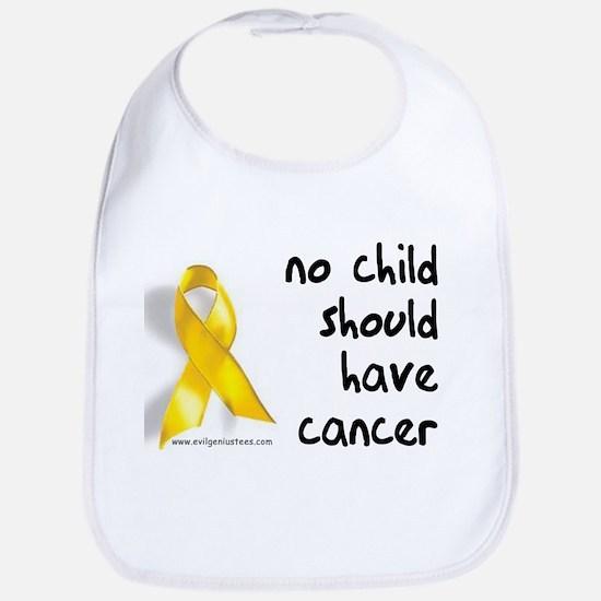 No child cancer Bib