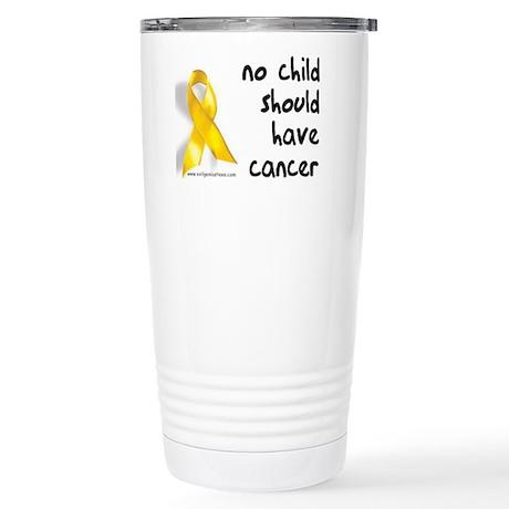 No child cancer Stainless Steel Travel Mug