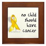 No child cancer Framed Tile
