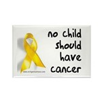 No child cancer Rectangle Magnet (10 pack)