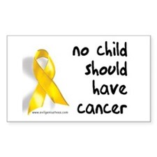 No child cancer Rectangle Decal
