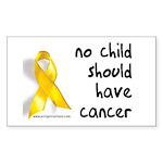 No child cancer Rectangle Sticker