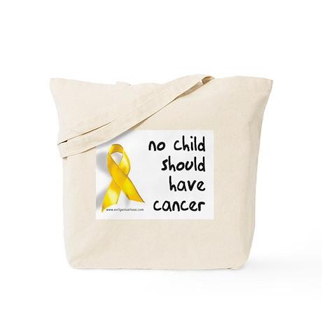 No child cancer Tote Bag
