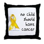 No child cancer Throw Pillow
