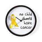 No child cancer Wall Clock