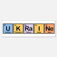 Ukraine Made of Elements Bumper Bumper Bumper Sticker
