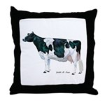 Holstein Cow Throw Pillow
