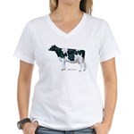 Holstein Cow Women's V-Neck T-Shirt