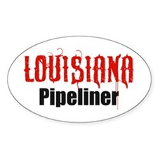 Louisiana Pipeliner 3 Oval Bumper Stickers