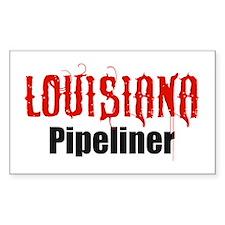 Louisiana Pipeliner 3 Rectangle Bumper Stickers