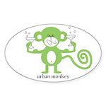 Urban Monkey Oval Sticker