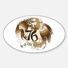 We'll Rise Again Feng-Huang Oval Decal