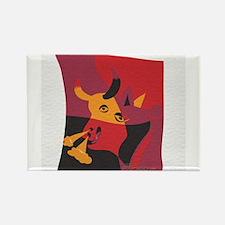 Cute Spanish bull Rectangle Magnet