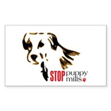 Stop Puppy Mills Rectangle Decal