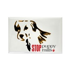 Stop Puppy Mills Rectangle Magnet (100 pack)