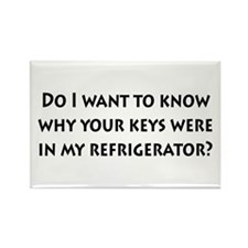Keys in my Refrigerator? Rectangle Magnet (100 pac