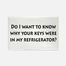 Keys in my Refrigerator? Rectangle Magnet