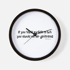 Wifes Hot Girlfriend Wall Clock
