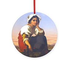 Roman Peasant Girl Ornament (Round)