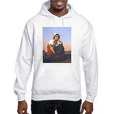 Roman Peasant Girl Hoodie Sweatshirt