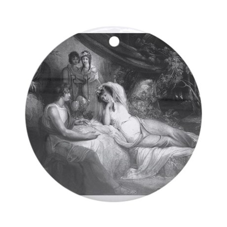 Telemachus Relating His Tales Ornament (Round)