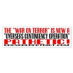 OVERSEAS CONTINGENCY OPERATION? Bumper Sticker