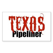 Texas Pipeliner 2 Rectangle Bumper Stickers