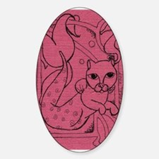 Rose MerCat Oval Decal