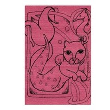 Rose MerCat Postcards (Package of 8)