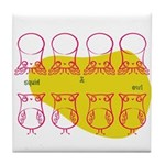 S&O Up/Down Red/Yellow Tile Coaster