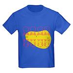 S&O Up/Down Red/Yellow Kids Dark T-Shirt