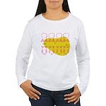 S&O Up/Down Red/Yellow Women's Long Sleeve T-Shirt