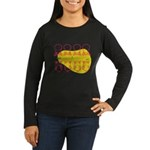 S&O Up/Down Red/Yellow Women's Long Sleeve Dark T-