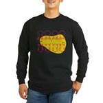 S&O Up/Down Red/Yellow Long Sleeve Dark T-Shirt