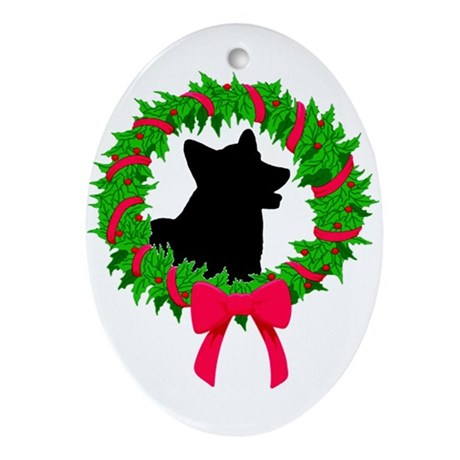 Corgi- Cardigan Oval Ornament