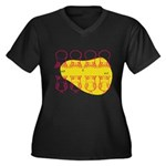 S&O Up/Down Red/Yellow Women's Plus Size V-Neck Da